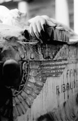 Love Will Tear Us Apart - Staglieno Genova 35mm (StefanoMajno) Tags: camera love film cemetery angel analog 35mm canon us joy genova will cover fallen division tear statua ilford stefano apart cimitero staglieno majno