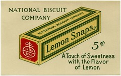 Lemon Snaps - A Touch of Sweetness with the Flavor of Lemon (Alan Mays) Tags: old blue red food green cookies yellow vintage ads paper advertising typography sweet antique touch ephemera lemons snaps type seals biscuits boxes cartons 1910s advertisements sweetness fonts printed logos slogans flavors packages typefaces slips inserts nabisco nationalbiscuitcompany carcards lemonsnaps innerseal inerseal packageinserts streetcarcards printedslips cartoninserts touchofsweetness cartonslips