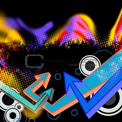 Funky Arrows Layout (dabstonCarthage) Tags: blue party wallpaper urban orange abstract motion black art texture modern illustration circle point fun layout graffiti design cool colorful pattern grafitti graphic artistic drawing background grunge style funky retro line halftone direction rings trendy techno backdrop plasma arrow copyspace hip hop curve shape pointing vector template element grungy stylish