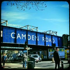 blue sky blue (buckaroo kid) Tags: bridge blue sky london square with camden railway camdenroad londonist a hrefhttpwwwpixsycomprotected pixsya