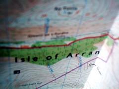 Isle of Arran (digitalia) Tags: uk art island scotland map cartography survey isle arran contour ordnance
