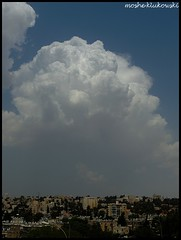 - jerusalem (moshek70) Tags: sky weather clouds israel jerusalem   cumulonimbus     redseatrough