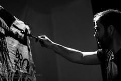 "Performance Ferrage 2013-05-04 (""Stròlic Furlàn"" - Davide Gabino) Tags: music art painting view arte artistic live palazzo bianco nero contemporaneo udine upim pierofix planart1485 zeissplanart1485 palazzocontemporaneo"
