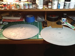 1/1400 Enterprise D saucer freshly painted (Matt_A) Tags: trek star 1 model clear enterprise uss round2 ncc1701d amt 1400