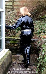 ALEX 984 (SHINY IMAGE) Tags: woman alex leather fetish shiny dress boots vinyl belts rubber apron plastic glossy gloves latex hood gummi raincoat macs rainwear kinky catsuit pvc waterproof jumpsuit botas pu plastique maddison thighboots mackintosh stiefel wetlook sbr regenmantel impermeables lackmantel