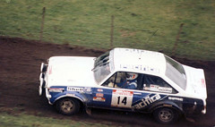 Inky Tullock  Ford Escort RS1800 (D70) Tags: world new 2 ford june mystery creek canon championship stage rally super stages special zealand 35mmfilm nz scanned 1985 15th inky zuiko canoscan km escort gravel awa 46 clarion f35 located 29july tullock autozoom 894 olympuspenf rs1800 5090mm