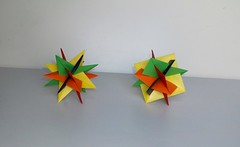 VWXYZ Stars & Squares (mancinerie) Tags: origami paperfolding modularorigami planars
