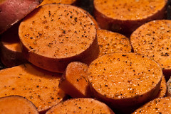 Sweet Potato (AtomImage) Tags: food spices oliveoil sweetpotato roasted howtwocookcom