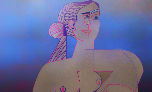 "Mujer Sentada, geometrización de Pablo Picasso (1953), abstracción de Roberto Real de León (2013). • <a style=""font-size:0.8em;"" href=""http://www.flickr.com/photos/30735181@N00/8815932494/"" target=""_blank"">View on Flickr</a>"