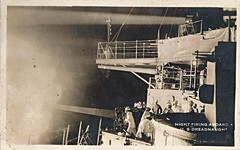 Battleship, Dreadnought, Searchlight, Night, Gun (photolibrarian) Tags: night gun searchlight battleship dreadnought