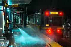 () Tags: los angeles trains night neon street photography la platform
