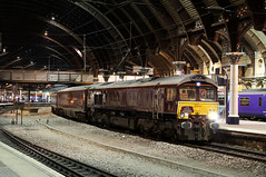 66746 1Z22 york plt 5 08.08.2016 (Dan-Piercy) Tags: gbrf class66 66746 yorkstation plt5 1z22 alnmouth scarborough thebelmondroyalscotsman charter ecml