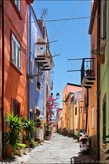 bosa (heavenuphere) Tags: bosa oristano sardegna sardinia sardinie italia italy europe island colourful houses architecture alley street 24105mm