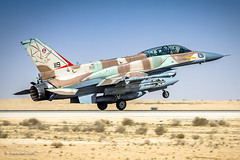 Bat Warrior returning home... (xnir) Tags: f16 f16i sufa aircraft aviation fightingfalcon viper landing touchdown israel israelairforce iaf nir nirbenyosef xnir