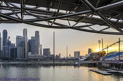 Singapore River-3 (georgelonezmoon) Tags: river singaporeriver sunset cityfringe