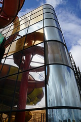 Sandcastle Water Park (Chris Dimond) Tags: 2016 blackpool waterpark glass reflection waterslide