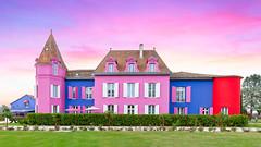 Candy Castle / Chateau de Lalande (Dg.63) Tags: chateau fantaisie couleur sunset canon 6d fullframe architecture sudouest lotetgaronne summer candy rose wtf ngc wow