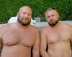 IMG_7953 (danimaniacs) Tags: party shirtless man guy sexy hot bear beard scruff smile hunk hairy bald