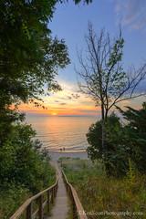 Lake Michigan ... 'petoskey' searching (Ken Scott) Tags: leelanau michigan usa 2016 august summer 45thparallel hdr kenscott kenscottphotography kenscottphotographycom freshwater greatlakes lakemichigan sbdnl sleepingbeardunenationallakeshore voted mostbeautifulplaceinamerica steps stairway sunset sleepingbearbay manitiouislands silhouette