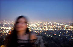 She had to leave Los Angeles She found it hard to say goodbye to her own best friend She bought a clock on Hollywood blvd the day she left (NeonOnHerSkin) Tags: losangeles night sky lights view griffithobservatory