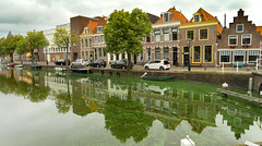 Alkmaar in the Netherlands (isobrown) Tags: alkmaar netherlands nederland paysbas hollande holland canal reflexion house houses street streetview water travel europe typical dutch