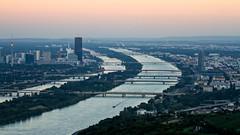 Vienna (Markus Hill) Tags: vienna wien evening abend view leopoldsberg city stadt donau danube river canon summer 2016