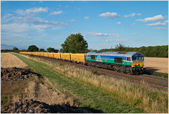 Fake Fifty-Nine in Rutland (Resilient741 Photography) Tags: gbrf class 66 66711 sence bardon aggregates industries special rare livery ioa wagon freight train langham junction br british rail railways trains rutland leicestershire