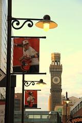 Oriole Park at Camden Yards (wyliepoon) Tags: bromo seltzer tower skyscraper baltimore orioles orioleparkatcamdenyards baseball stadium ballpark retro mlb majorleaguebaseball eutawstreet downtown newyorkyankees 2016