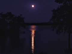 Oh Moon River (clarkcg photography) Tags: oklahoma river arkansasriver webberfallslockanddam moon light night nightlandscape landscapesaturday7dwf 7dwf inexplore