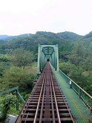Watarase Keikoku Line   (: : Ys [waiz] : :) Tags: grd grd4 ricoh   rail railway   bridge watarase     green  japan valley outdoor