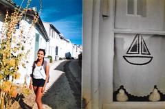 La Rochelle (BeefySquarms) Tags: gabby halfframeshots larochelle ilderey dianamini 35mm diana lomography filmphotography brightcolours prettygirl embroidery sailing