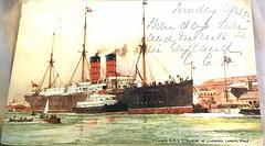 IMG_5815 (Gadsden1500) Tags: tender rmsetruria liverpool landing stage liverpoollandingstage cunardline steamship oceanliner port portofliverpool postcard harbor arrival