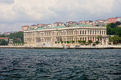 Ciragan Palace in Istanbul (chrisdingsdale) Tags: landmark tour bosporus bosphorus strait coastline facade architecture building historic ottoman palace ciragan turkey istanbul heritage culture turkish travel tourism attraction tourist old residence mansion water exterior sultan architectural style