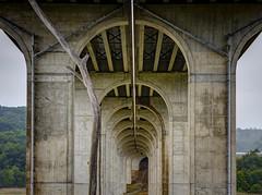 Tunnel - Cuyahoga (Notkalvin) Tags: cuyahoga cuyahogavalley ohio bridge overpass concrete structure outdoor notkalvin mikekline notkalvinphotography brisge depth tunnel troll under underneath massive foggy misty rainy weather