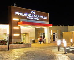Philadelphia Mills (raymondclarkeimages) Tags: raymondclarkeimages rci 8one8studios usa lg smartphone philly vs986 outdoor mall stores shopping philadelphia cameraphone night g4 philadelphiamills blacksky noflash naturallight formallyfranklinmills outlet