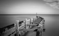 Wonky (Nathan J Hammonds) Tags: breaker sea monochrome norfolk beach long exposure 10stop nd horizon wonky nikon d750 water perspective black white