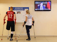 russiasittingvolleyballers_596428940 (cb_777a) Tags: amputee disabled handicapped onelegged crutches cancer survivor russia