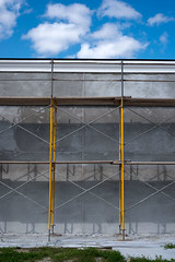Yellow (reyherphoto) Tags: art photography exploration construction yellow sky clouds fineartphotography marshallreyher florida scaffold