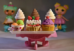 Erase Your Guilt Of Over Indulging! HMM!!! (Cooling Down Again Yay!!!) Tags: macromondays penspensilseraserspaperclips macro closeup erasers rubber cute desserts onthetable lalaloopsy dolls small lightbox ppep wow