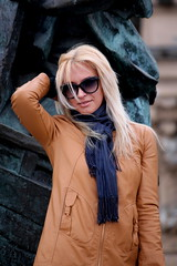 Blond (Verte Ruelle) Tags: girls cute girl sunglasses stpetersburg russia blond 300313