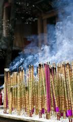 Many Prayers (William J H Leonard) Tags: china red asian asia candles dof buddhist prayer praying chinese decoration buddhism depthoffield leshan sichuan buddhisttemple prayers incense pilgrims shallowdepthoffield dafo eastasia eastasian sichuanese leshangiantbuddha earthasia dafotemple leshantemple