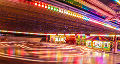 Dodgems (SaabManJim) Tags: longexposure carnival light fun ride plymouth fair devon lighttrails dodgems dodgem fairgound