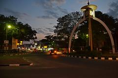 Clocktower in the center of New Anuradhapura, Sri Lanka (sadat81) Tags: city ancient asia cities tropical tropic srilanka ceylon lankan southasia anuradhapura sinhalese anuradapura singalese