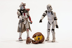 3-30 Its Hatched What is it (Dadski) Tags: red white eye starwars model egg scifi stormtrooper