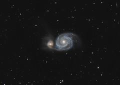 M51 Whirlpool Galaxy - 31 Mar 13 (Steve's Astrophotography) Tags: 1 whirlpool galaxy ap m51 mach at8rc