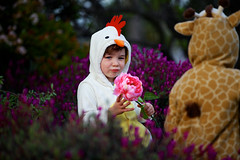 Giraffe and the Hen (catherinelaceyphoto) Tags: ca family flowers costumes light boy usa love girl up canon easter children happy losangeles kid child play dress natural father joy daughter mother son baskets giraffe hen losangelesfamilyphotographer