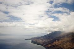 maui revisited (#20) (manyfires) Tags: ocean landscape island hawaii coast flight shoreline maui pacificocean shore tropical coastline fromtheair