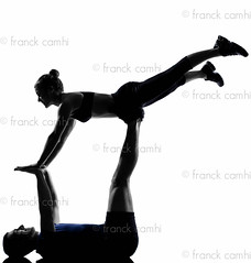couple woman man exercising workout (Franck Camhi) Tags: 2 two people woman white man male sports girl silhouette female training cutout pose person one 1 coach exercise fulllength couples whitebackground acrobatics studioshot posture workout fitness adults isolated position trainer aerobics gymnastic instructor caucasian exercising