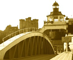 Newcastle Swing Bridge - April 2013 (Gilli8888) Tags: bridge sepia river newcastle tyne gateshead swingbridge quayside rivertyne roadbridge
