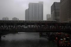 Wells Bridge (Kunst Images) Tags: bridge weather fog train construction cta el wellsstreet